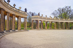 Collonade in Sanssouci Park in Potsdam in Germany Royalty Free Stock Photo