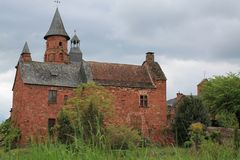 Collonges-La-rouge (Frankrijk) royalty-vrije stock foto