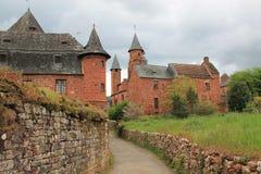Collonges-La-rouge (Frankrijk) Stock Afbeeldingen