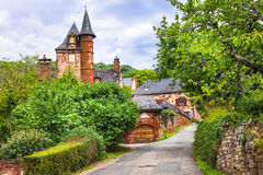 Collonges-la-Rouge - red village in France Stock Photos