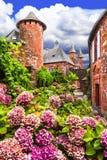 Collonges-la-Rouge village Stock Photo