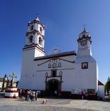 Collonial hiszpański kościół w ixtapan De Los angeles Sal Mexico Obraz Stock