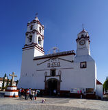 Collonial spanish church in ixtapan de la sal mexico Stock Image