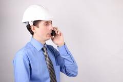 Colloqui di affari sul telefono Fotografia Stock