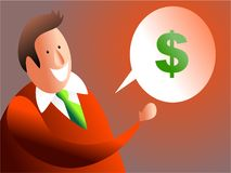 Colloquio dei soldi royalty illustrazione gratis