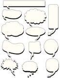 Colloquio della bolla di discorso di Doodles Fotografia Stock