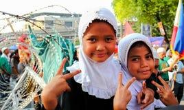 Colloquio di pace musulmano Immagini Stock Libere da Diritti