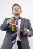 Colloquio ubriaco dell'ufficio fotografia stock libera da diritti
