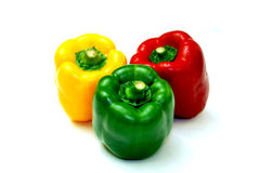 Collorful bell peppers. Colorful bell peppers set in sequence Stock Images