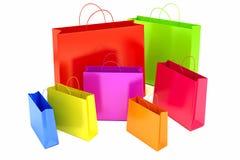 Collorful Shopping Bag Stock Photo