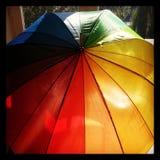 Collorfull paraply Royaltyfri Fotografi