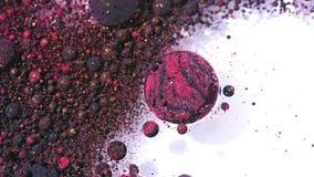 Collors brillante burbujea tinta del aceite de la cámara lenta Foto de archivo