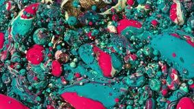 Collors brillante burbujea tinta del aceite de la cámara lenta Fotografía de archivo