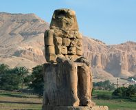 Collosal of Memnon. In Egypt, Luxor Royalty Free Stock Photography