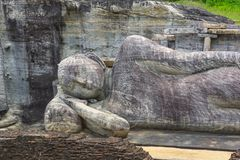Reclining Buddha at Pollanaruwa Royalty Free Stock Image