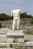 Collosal torso of naked male god in Hadrian bath of Aphrodisias Royalty Free Stock Photography