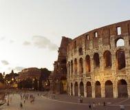 Colloseum в вечере, Рим, Италия Стоковые Изображения