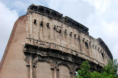 Colloseum. The visible cracks and other degradations in the walls of the Colloseum Stock Photo