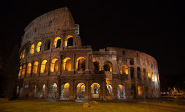 Colloseum. Night view of the Ruins of the colloseum in Rome, Italy Royalty Free Stock Image