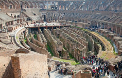 Colloseum. Ruins of the colloseum in Rome, Italy Stock Image