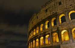 Colloseum. Ancient building of rome Stock Photos