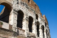 Colloseum. Ancient colloseum at rome, italy Stock Photo