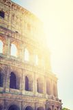 Colloseum. With beautiful sunlight at rome Stock Images