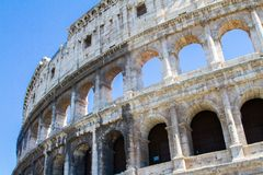 Colloseum with blue sky Royalty Free Stock Image