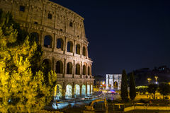 Colloseum. The most famous italian symbol in Rome - Colloseum in night scene Stock Images