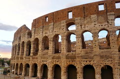 Colloseum in Rome. During early afternoon Stock Image