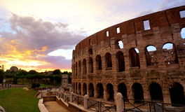 Colloseum in Rome. During evening Royalty Free Stock Images