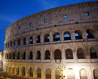 Colloseum in Rome. During evening Royalty Free Stock Photography