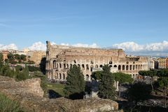 Colloseum in Rome, Italië Stock Foto
