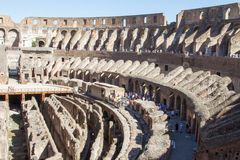 Colloseum. At rome in italy Royalty Free Stock Photos