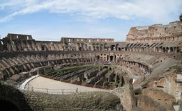 Colloseum, Rome, Italy. Interior of the ancient Colloseum in Rome, Italy Royalty Free Stock Photo