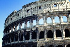 Colloseum at rome. Colloseum in vintage style at rome, italy royalty free stock images
