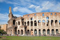 Colloseum. Ruins of the colloseum in Rome, Italy Stock Photos