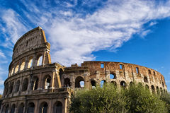 Colloseum and Sky Stock Photo