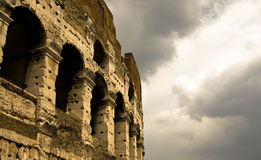 Colloseum under the gloomy sky Royalty Free Stock Photos