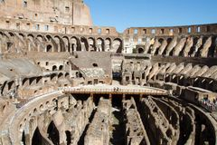 Colloseum. Very old colloseum ruine at rome, italy Stock Images