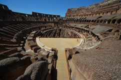 Colloseum. Wide angle view of the colloseum in rome Stock Photo