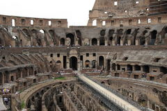 Collosseum. A shot of the inside of the collosseum, where gladiators fought and Christians died Stock Photography