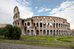 Collosseum. Outside of the Amfiteatro Flavio, better know as the Collosseum in Rome, Italy stock photography