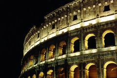 Collosseum at Night Stock Photography