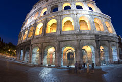 collosseum noc Włochy Rzymu Obraz Royalty Free