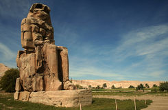 Collosus von Memnon Stockfotos