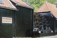 Collse Watermolen, vattenhjul, watermill Fotografering för Bildbyråer