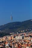 collserola de torre στοκ φωτογραφίες
