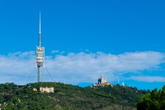 Collserola-Fernsehturm lizenzfreies stockfoto