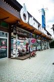 colmado del estilo del vintage 7-Eleven, Chiang Khan, Loei, Tailandia - 8 de diciembre de 2018 fotografía de archivo